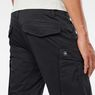 G-Star RAW® Rovic Zip 3D Straight Tapered Pants Black model back zoom