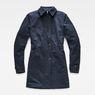 G-Star RAW® Minor Padded Slim Trench Dark blue flat front