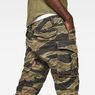 G-Star RAW® Rovic 3D Straight Tapered Pants Green model back zoom