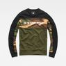 G-Star RAW® Swando Camo Block Sweat Green flat front