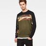 G-Star RAW® Swando Camo Block Sweat Green model front