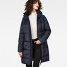 G-Star RAW® Whistler Hooded Quilted Slim Long Coat Dark blue model front