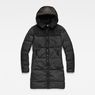 G-Star RAW® Whistler Hooded Quilted Slim Long Coat Black flat front