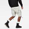 G-Star RAW® Rovic Qane Relaxed 1/2 Length Shorts Grey model back
