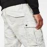 G-Star RAW® Rovic Qane Relaxed 1/2 Length Shorts Grey model back zoom