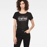 G-Star RAW® Rie Art Straight T-Shirt Black model front