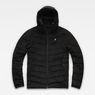 G-Star RAW® Attacc Quilted Cord Hooded Jacket Black flat front