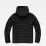 G-Star RAW® Attacc Quilted Cord Hooded Jacket Black flat back