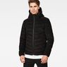 G-Star RAW® Attacc Quilted Cord Hooded Jacket Black model front