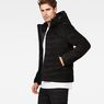 G-Star RAW® Attacc Quilted Cord Hooded Jacket Black model side