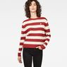 G-Star RAW® Doolin Stripe Knit Rot model front