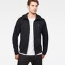 G-Star RAW® Strett Dc Hooded Zip Thru Sweat Black model front