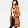G-Star RAW® Whistler Hooded Quilted Slim Long Coat Orange model side