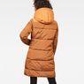 G-Star RAW® Whistler Hooded Quilted Slim Long Coat Orange model back