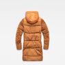 G-Star RAW® Whistler Hooded Quilted Slim Long Coat Orange flat back