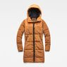 G-Star RAW® Whistler Hooded Quilted Slim Long Coat Orange flat front
