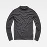 G-Star RAW® Core Mock Turtle Knit Grey flat front