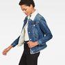 G-Star RAW® 3301 Slim Sherpa Jacket Medium blue model side
