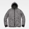 G-Star RAW® Whistler Meefic Padded Hooded Jacket Black flat front