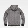 G-Star RAW® Whistler Meefic Padded Hooded Jacket Black flat back