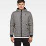G-Star RAW® Whistler Meefic Padded Hooded Jacket Black model front