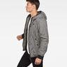 G-Star RAW® Whistler Meefic Padded Hooded Jacket Black model side