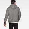 G-Star RAW® Whistler Meefic Padded Hooded Jacket Black model back