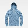 G-Star RAW® Woven Hooded Sweater Mittelblau