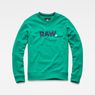G-Star RAW® Misi Stalt Deconstructed Sweater Green flat front