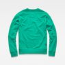 G-Star RAW® Misi Stalt Deconstructed Sweater Green flat back