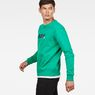 G-Star RAW® Misi Stalt Deconstructed Sweater Green model side