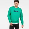 G-Star RAW® Misi Stalt Deconstructed Sweater Green model front