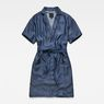 G-Star RAW® Blake Wrap Dress Dark blue flat front
