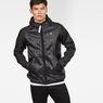 G-Star RAW® Strett Hooded Overshirt + Gymbag Black model front