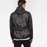 G-Star RAW® Strett Hooded Overshirt + Gymbag Black model back