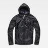 G-Star RAW® Strett Hooded Overshirt + Gymbag Black flat front
