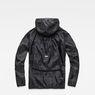 G-Star RAW® Strett Hooded Overshirt + Gymbag Black flat back