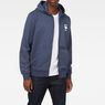 G-Star RAW® Doax Hooded Zip Thru Sweater Dunkelblau model front