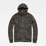 G-Star RAW® Strett Dc Hooded Zip Thru Sweat Grey flat front