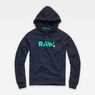 G-Star RAW® Misi Stalt Deconstructed Hooded Sweater Dunkelblau flat front
