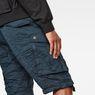 G-Star RAW® Rovic Belt Loose 1/2-Length Shorts Dark blue model back zoom