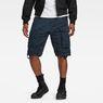 G-Star RAW® Rovic Belt Loose 1/2-Length Shorts Dark blue model front