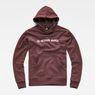 G-Star RAW® Loaq Hooded Sweat Purple flat front