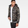 G-Star RAW® Whistler Meefic Quilted Hooded Bomber Green model side