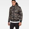 G-Star RAW® Whistler Meefic Quilted Hooded Bomber Green model front
