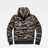 G-Star RAW® Whistler Meefic Quilted Hooded Bomber Green flat back