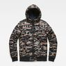 G-Star RAW® Whistler Meefic Quilted Hooded Bomber Green flat front