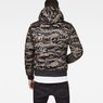 G-Star RAW® Whistler Meefic Quilted Hooded Bomber Green model back