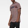 G-Star RAW® Mow Stripe T-Shirt Braun model side