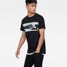 G-Star RAW® Tairi T-Shirt Black model side